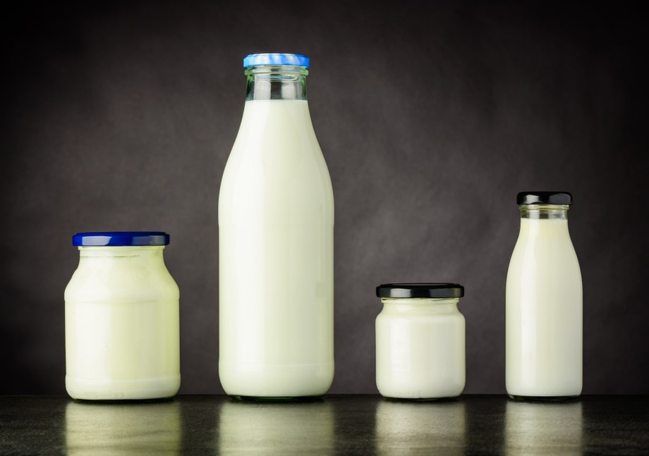 Milk and Dairy Products in Bottle and Jar